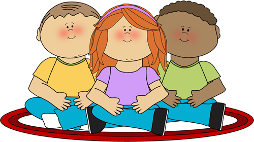 Clipart of sitting image royalty free stock Kids Sitting on School Rug Clip Art - Kids Sitting on School Rug ... image royalty free stock