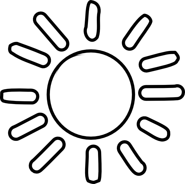 Sun outline clipart svg black and white stock 28+ Collection of Sun Line Drawing Black And White | High quality ... svg black and white stock