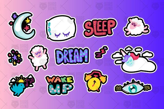Child symbols clipart graphic freeuse stock Sleeping And Dreams Symbols Set. Art Stickers, Wall Art, Child ... graphic freeuse stock