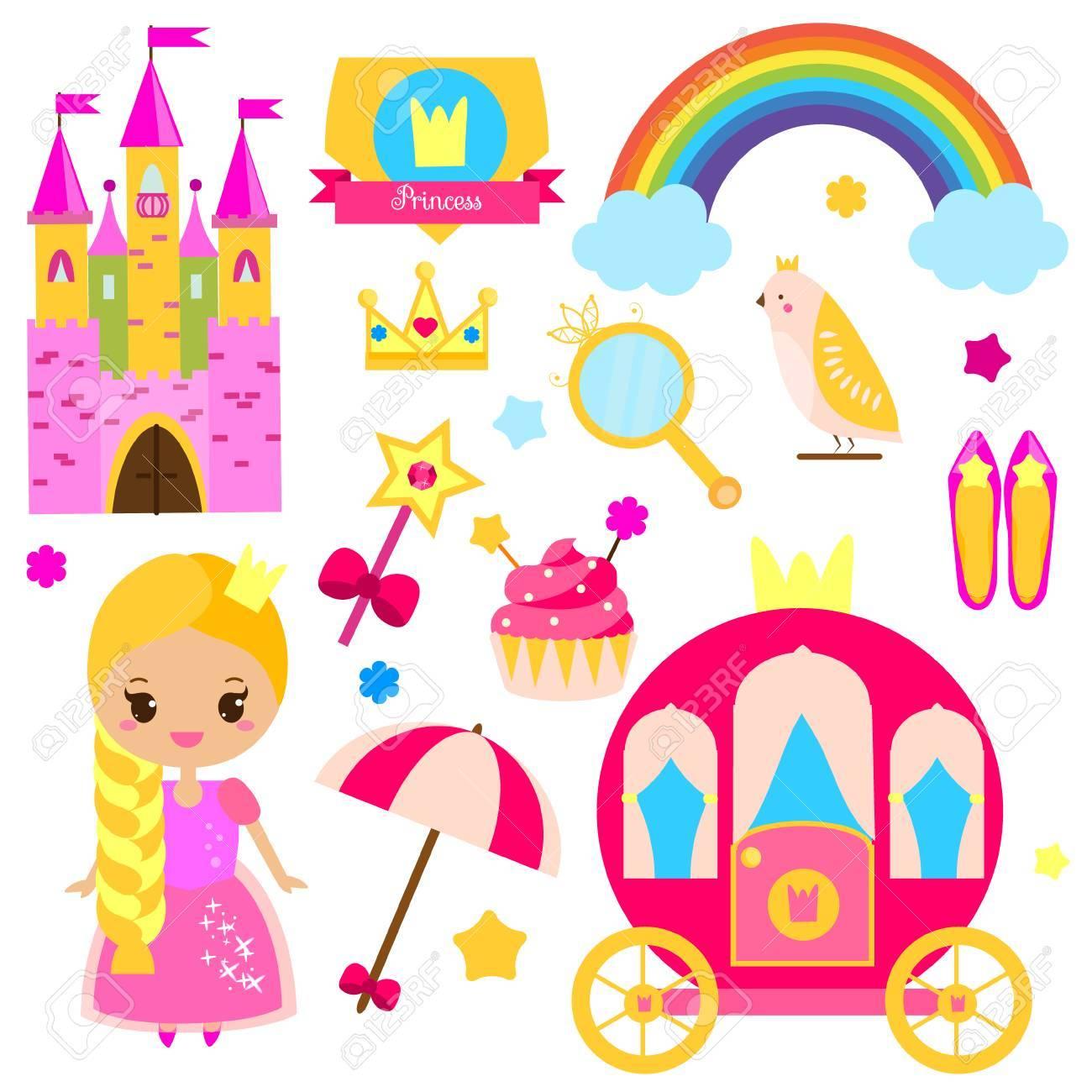 Child symbols clipart clip art library download Children princess party design elements. Stickers, clip art for ... clip art library download