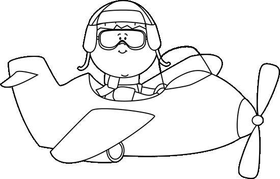 Child teacher pilot black and white clipart clip art freeuse Cute Airplane | ... an Airplane Clip Art - Black and White Boy ... clip art freeuse