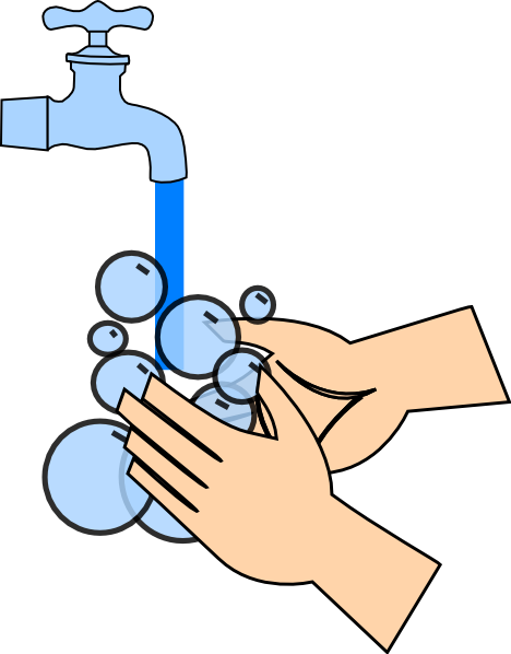Child washing hands clipart. Kid clip art at