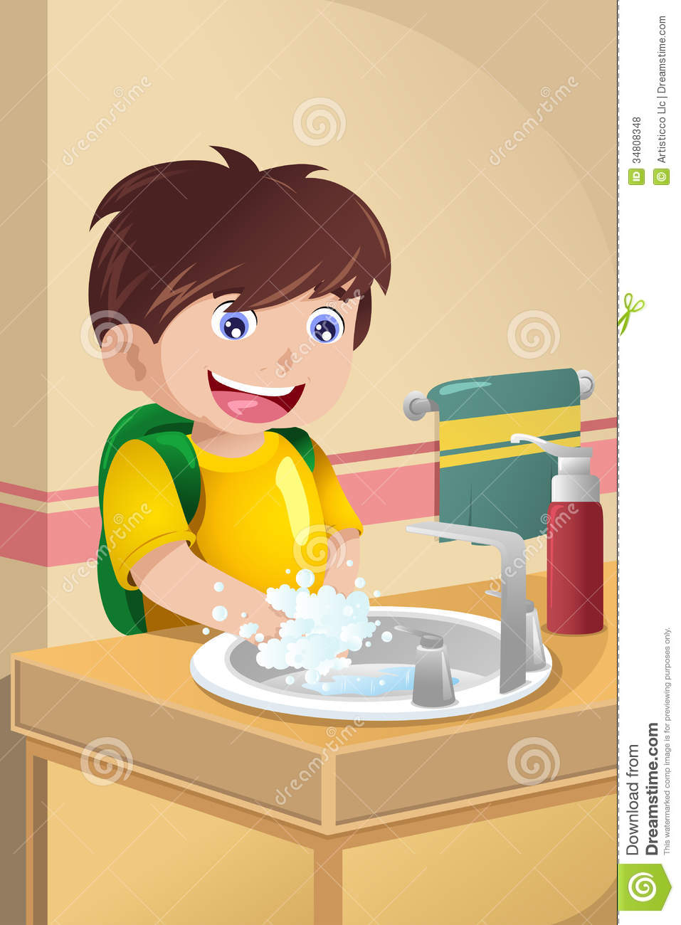 Child washing hands clipart clip art stock Clipart kids washing hands - ClipartFest clip art stock