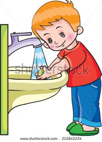 Child washing hands clipart graphic library stock Child washing hands clipart - ClipartFest graphic library stock
