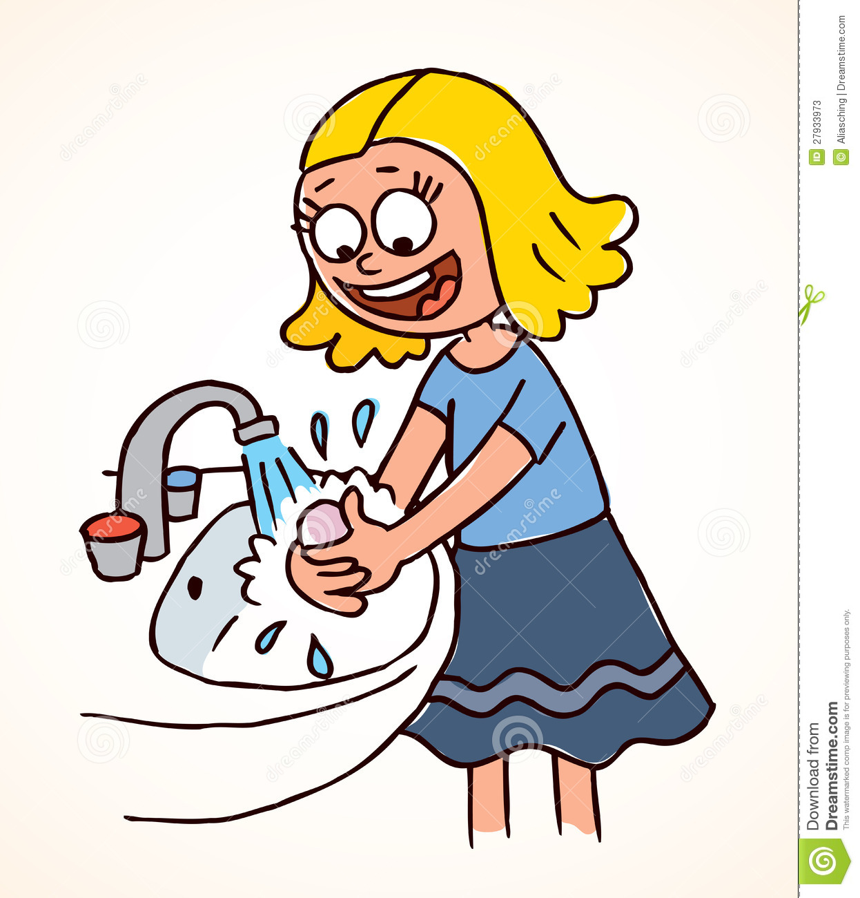 Child washing hands clipart transparent library Child washing hands clipart - ClipartFest transparent library