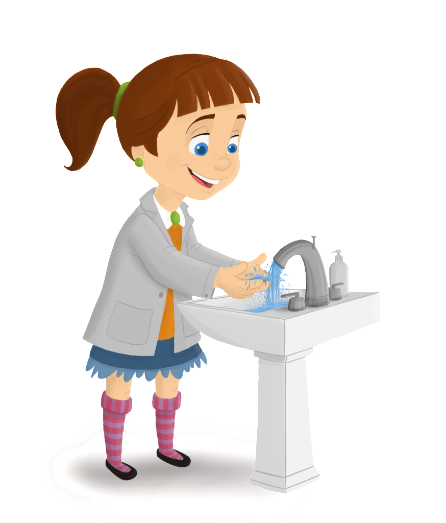 Kid cartoon best. Child washing hands clipart