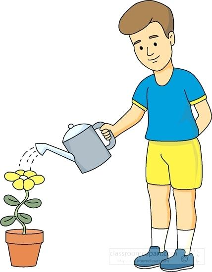 Child watering plants clipart clipart library download Boy watering plants clipart 5 » Clipart Station clipart library download