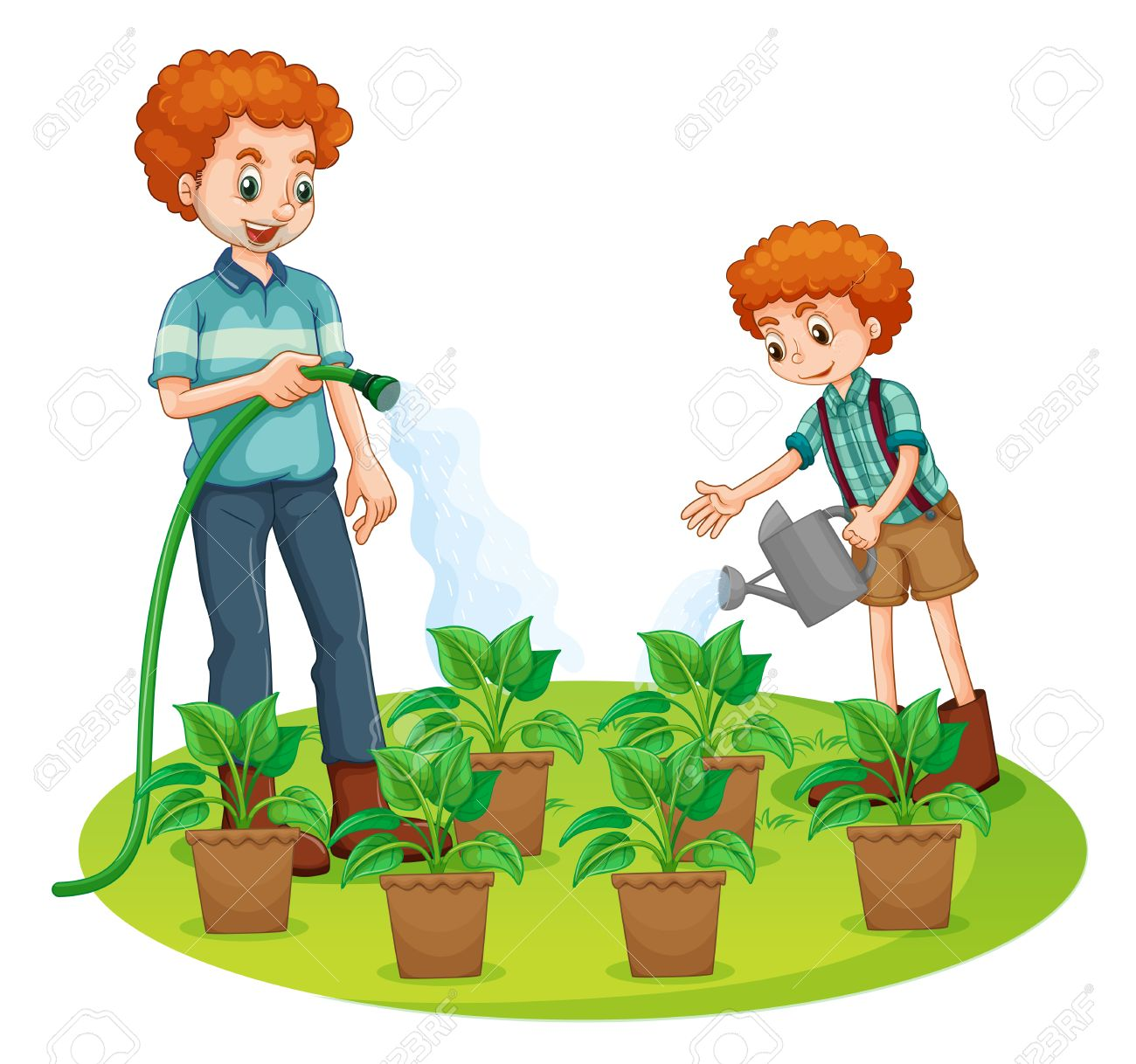 Child watering plants clipart banner library library Watering Clipart   Free download best Watering Clipart on ClipArtMag.com banner library library