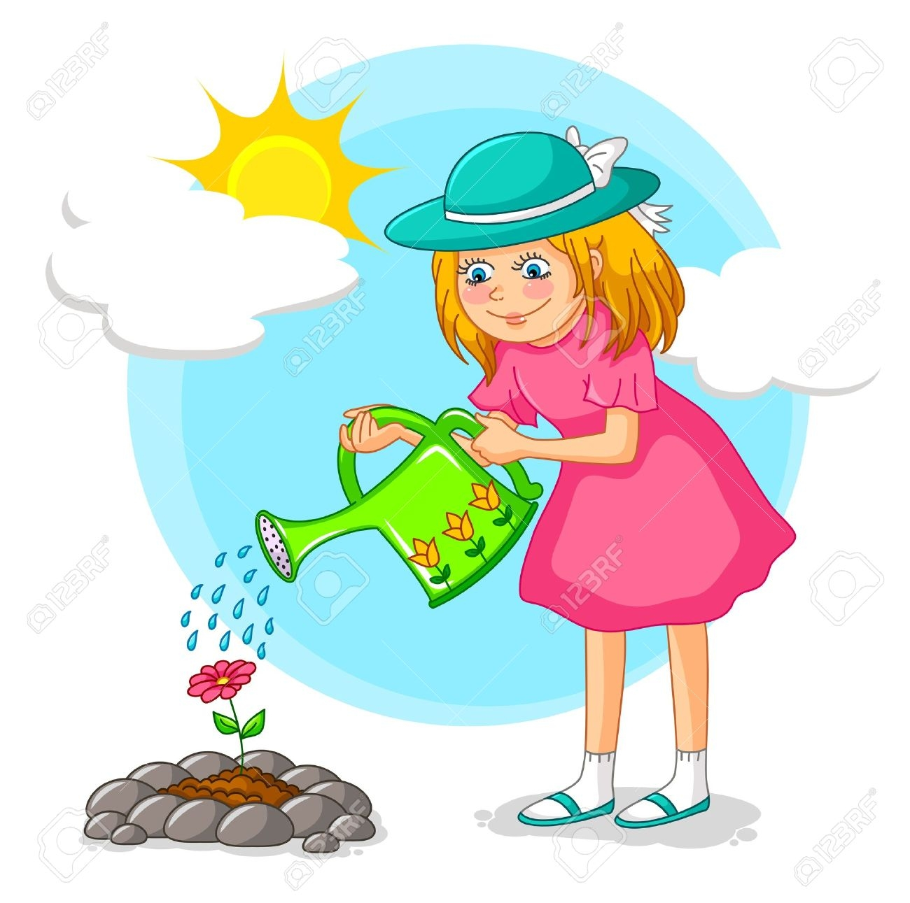 Child watering plants clipart banner library library Boy watering plants clipart 13 » Clipart Station banner library library