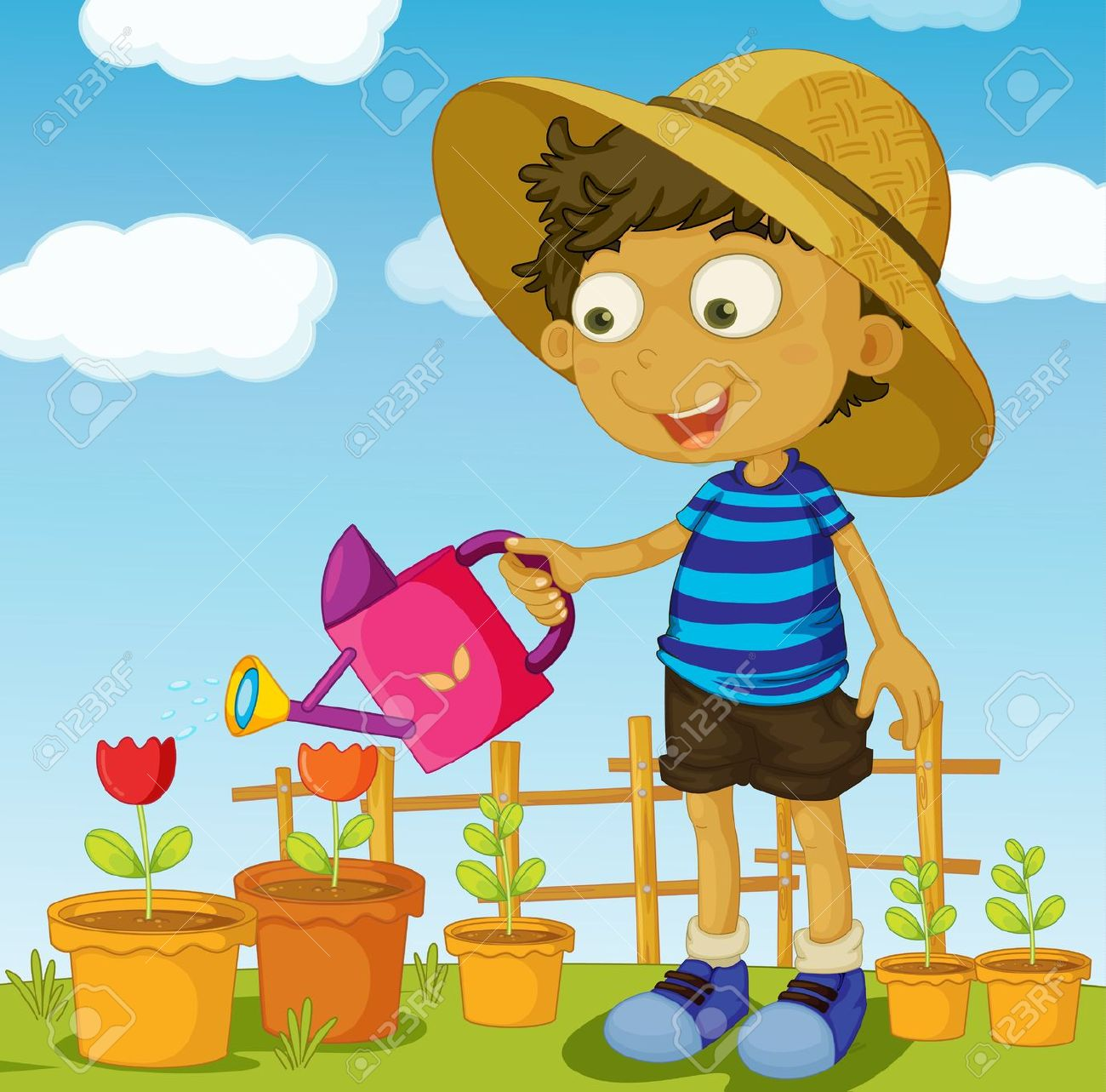 Child watering plants clipart graphic transparent download Boy watering plants clipart 4 » Clipart Station graphic transparent download