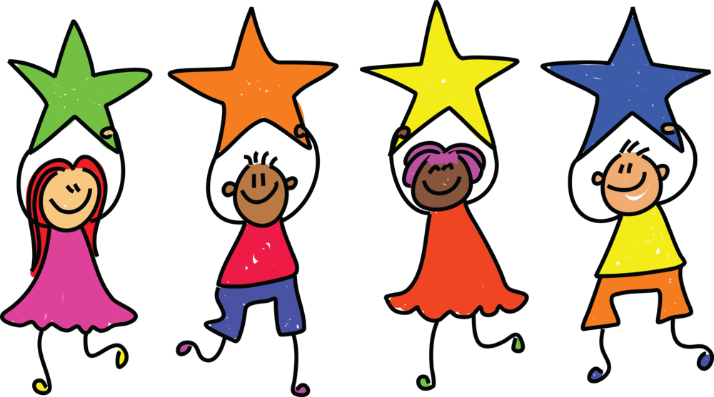 Star children clipart