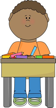 Child working clipart clip art black and white library Child working at table clipart - Clip Art Library clip art black and white library
