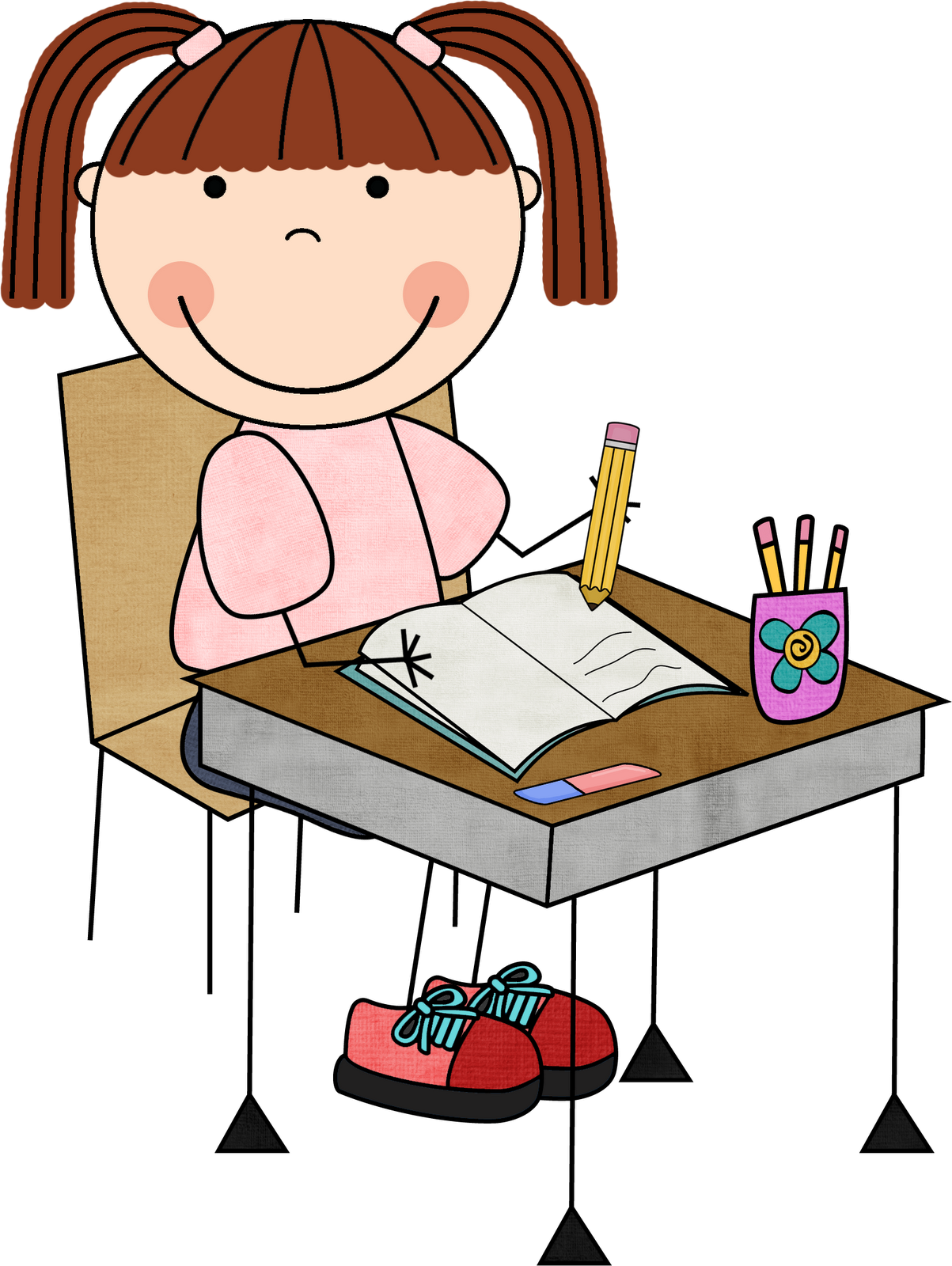 Writing stations clipart svg stock Children working clip art - Clip Art Library svg stock