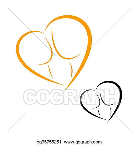 Childbearing clipart clipart transparent library Vector Illustration - Logos of childbirth and motherhood. EPS ... clipart transparent library