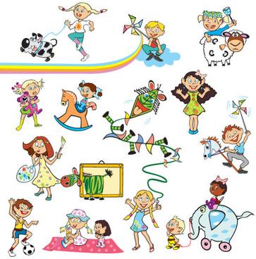 Childhood memories clipart banner download Vector happy childhood free vector download (5,216 Free vector) for ... banner download