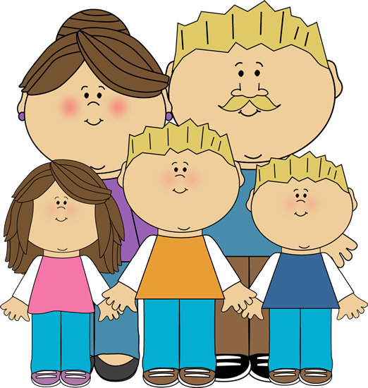 Family with 4 kids clipart all girls png download Free Family Picture Clipart, Download Free Clip Art, Free Clip Art ... png download