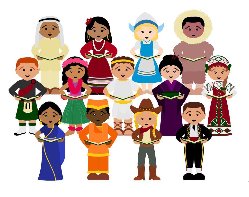 Children around the world clipart clip free Printable Children Around The World Clipart Piodbaget - Clipart1001 ... clip free