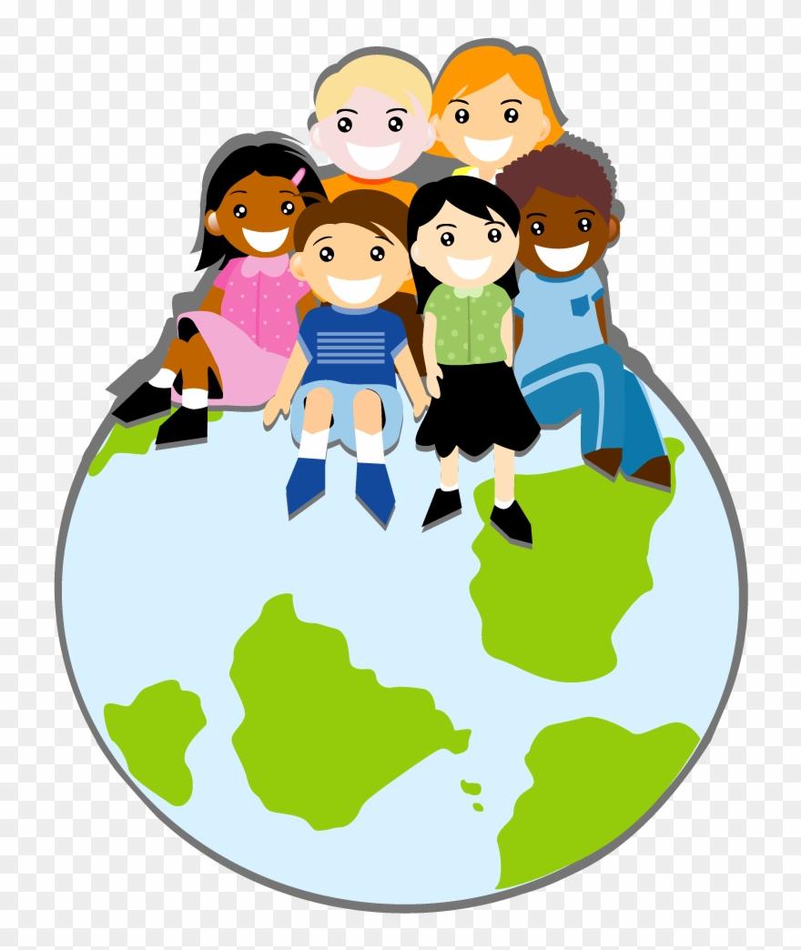 Children around the world clipart jpg freeuse Giggles Spreading Smiles Around The World National - Children Vector ... jpg freeuse