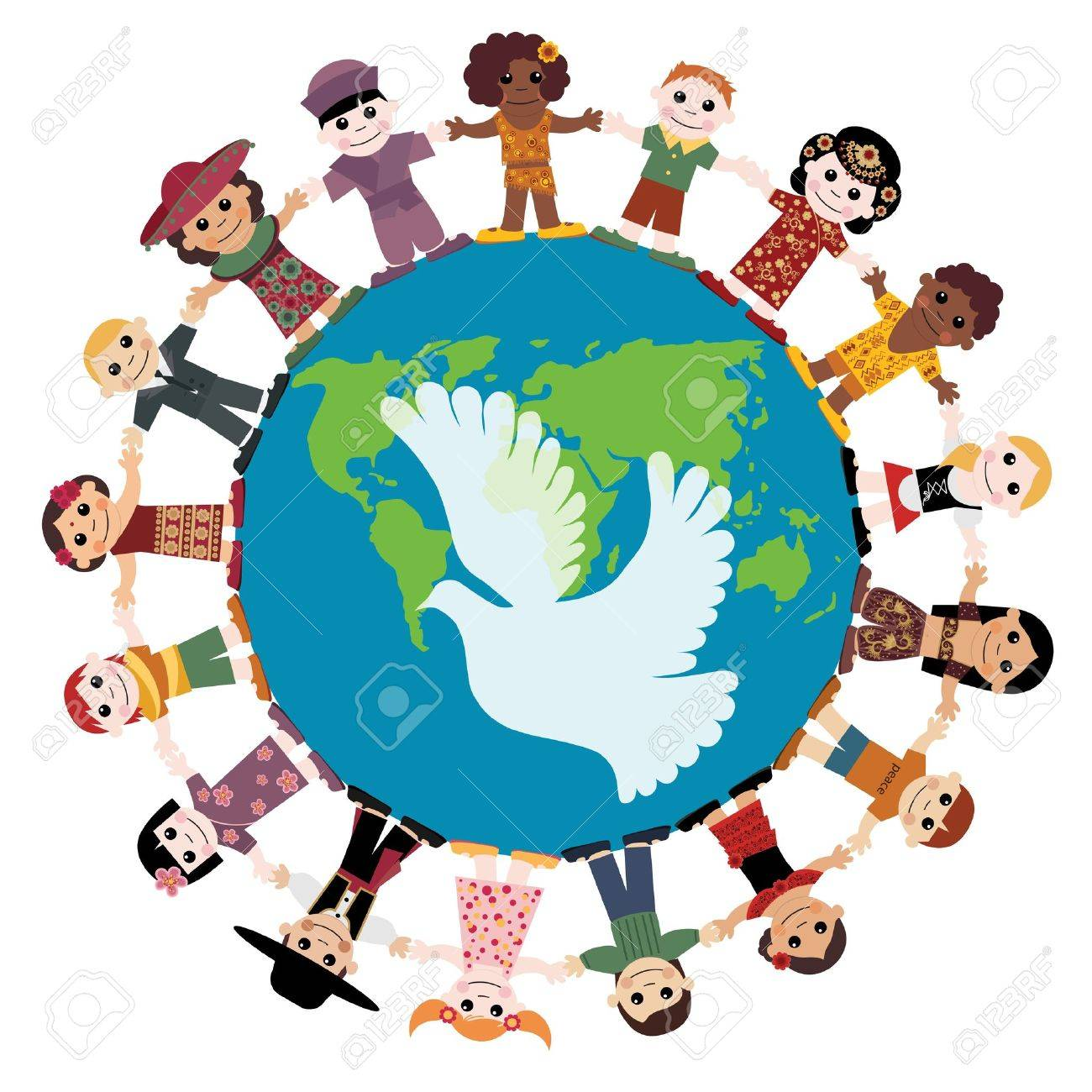 Multicultural clipart from around the world picture royalty free download Children Around The World Clipart | Free download best Children ... picture royalty free download