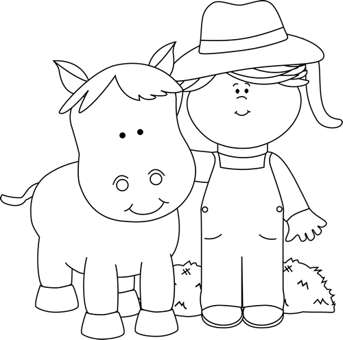 Children at a farm clipart black and white picture transparent Free Farm Cliparts Black, Download Free Clip Art, Free Clip Art on ... picture transparent