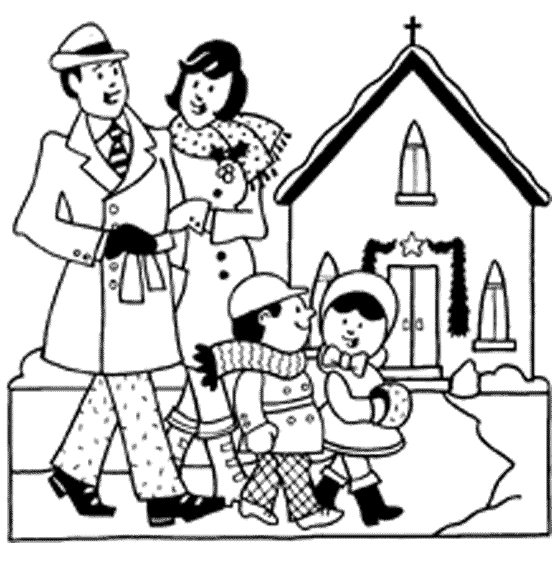 Children at church clipart black and white graphic freeuse stock Family Church Cliparts - Cliparts Zone graphic freeuse stock