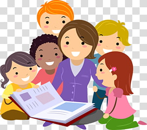 Teachers caring about student clipart png library library Child , Students, group of children studying illustration ... png library library