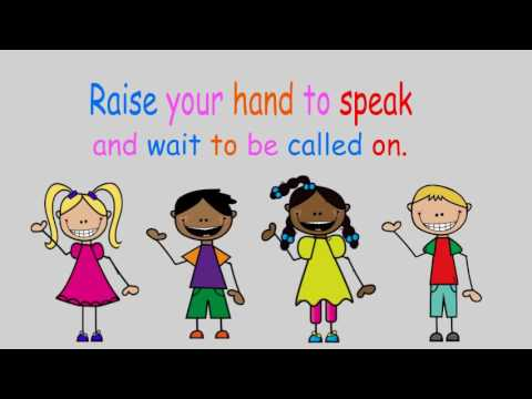 Kids putting their hands down in class clipart jpg transparent Raise your hand to speak (A classroom rules song) jpg transparent
