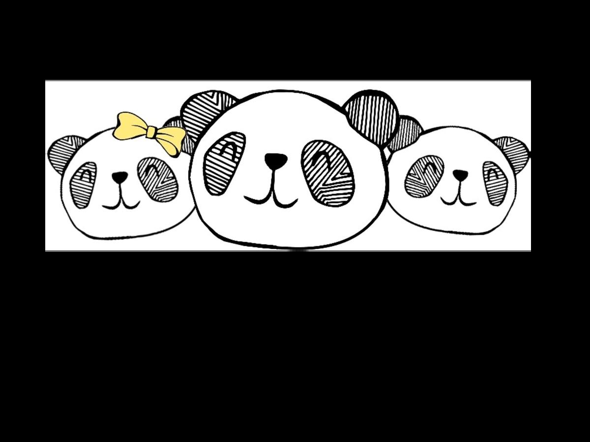 Children basking under sun clipart image black and white library Three Little Pandas, One Big Dream – The Uncool Dad image black and white library