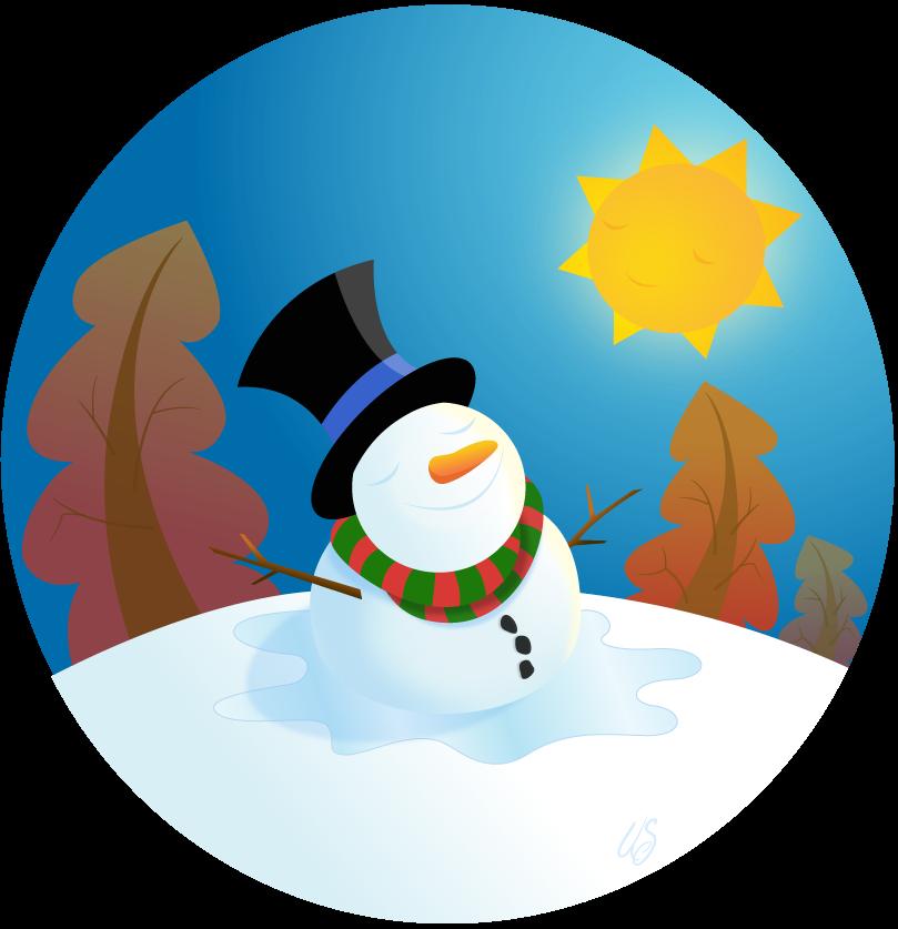 Children basking under sun clipart clipart library snowman | Flufflepot clipart library