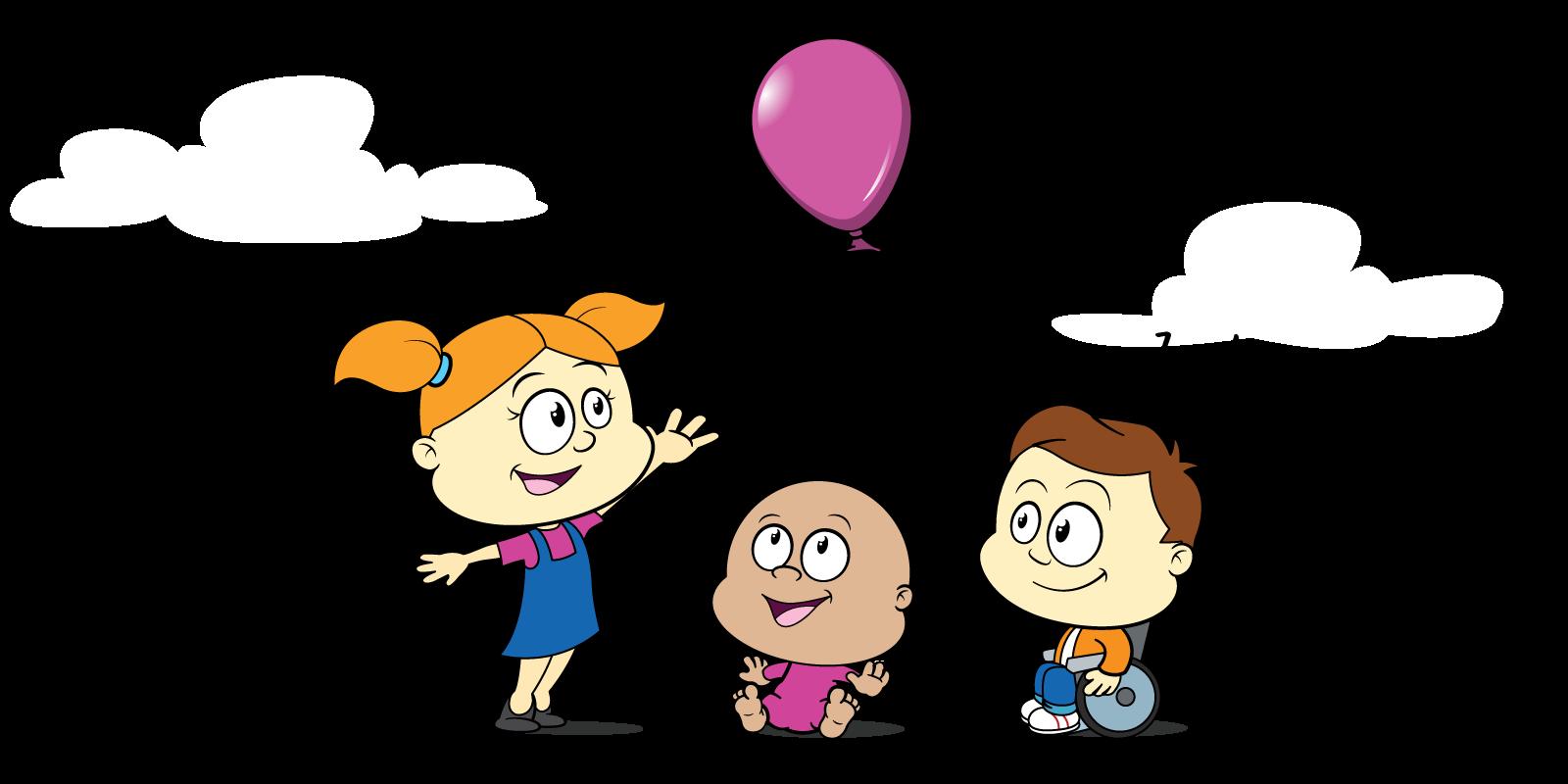 Children basking under sun clipart banner royalty free Storybook - Children's Activities Week banner royalty free