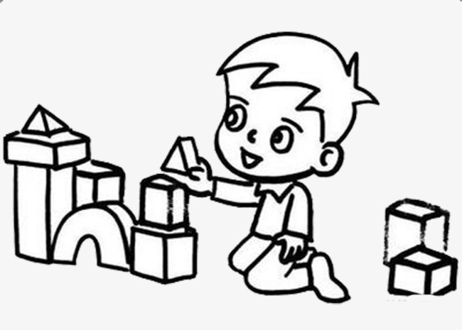 Children building with blocks clipart black and white graphic free stock Building Blocks Of Wood, Building Clipar #137463 - PNG Images - PNGio graphic free stock