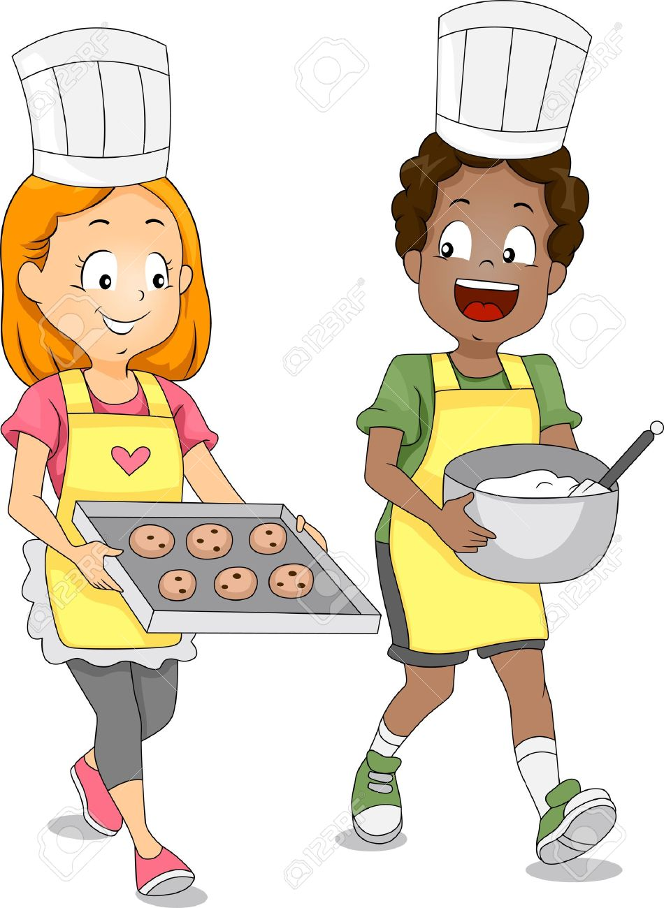 Cooking clipartfest of kids. Children chef clipart