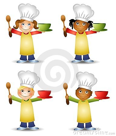 Kids cooking stock illustrations. Children chef clipart