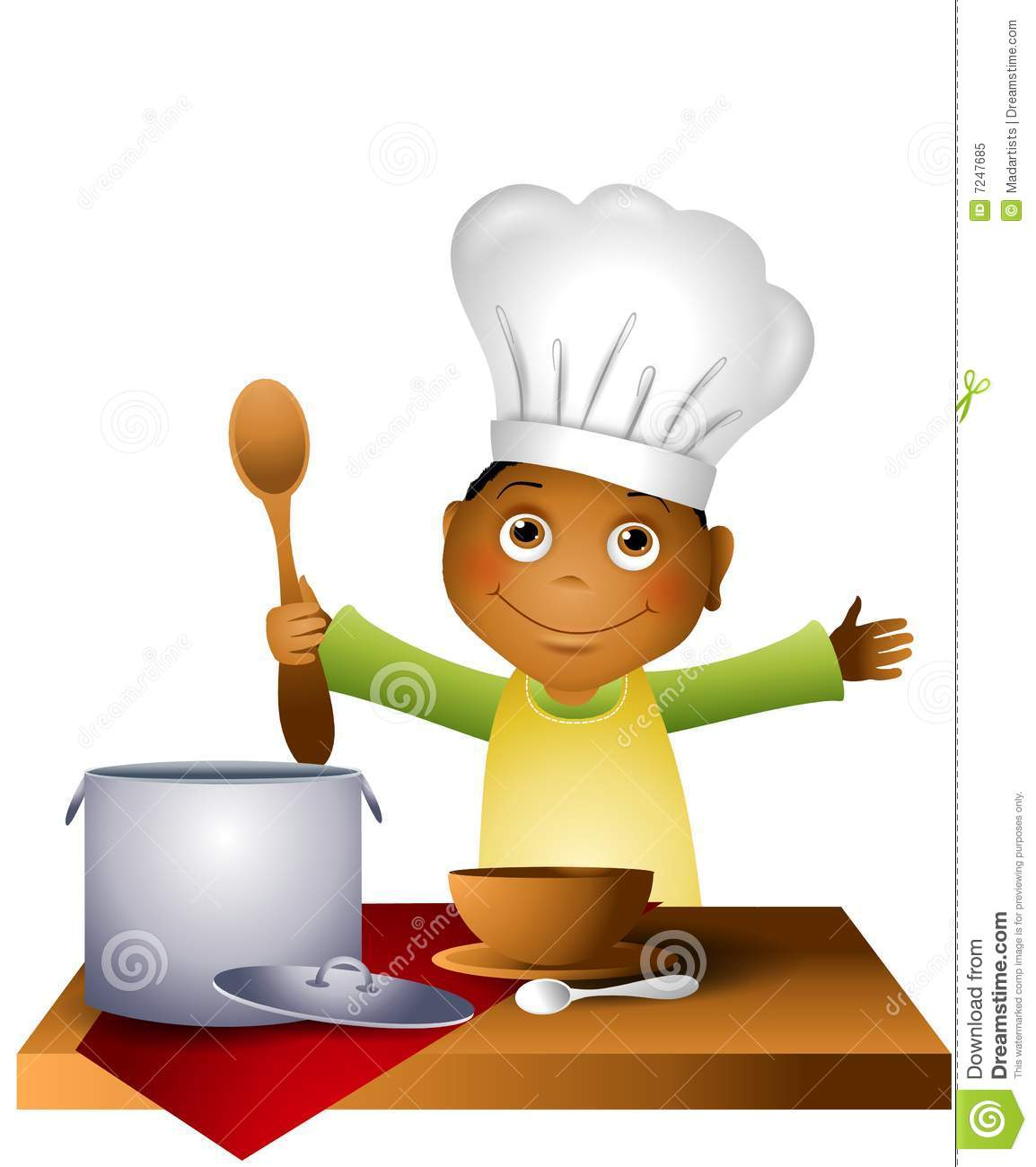 Children chef clipart. Kids cooking panda free