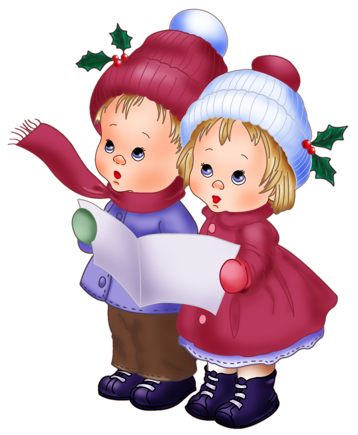 Christmas clipart vintage vector library Cute Vintage Kids PNG Clipart | Gallery Yopriceville - High-Quality ... vector library