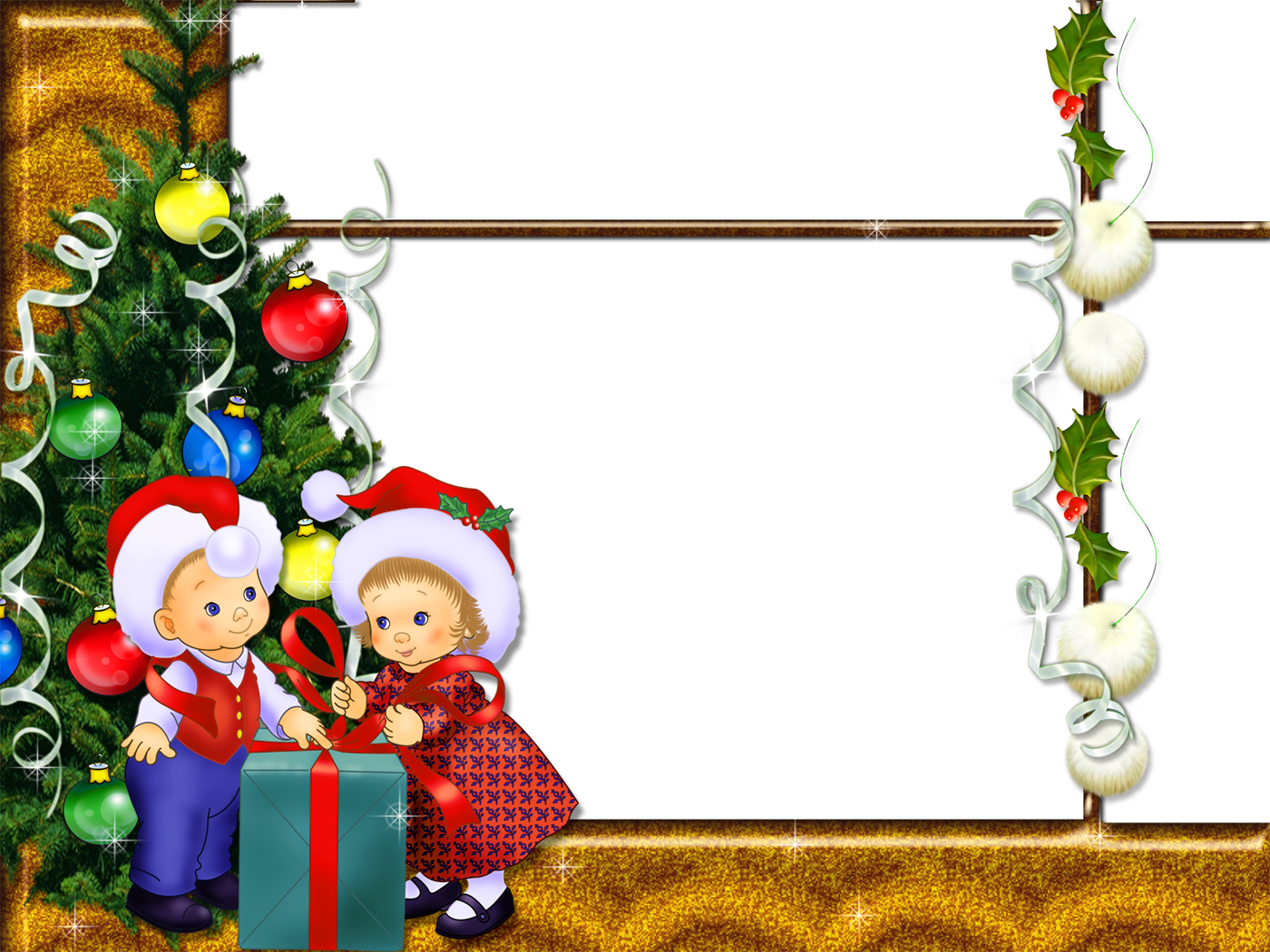 Kid christmas clipart jpg royalty free Christmas Photo Frame with Kids | Gallery Yopriceville - High ... jpg royalty free