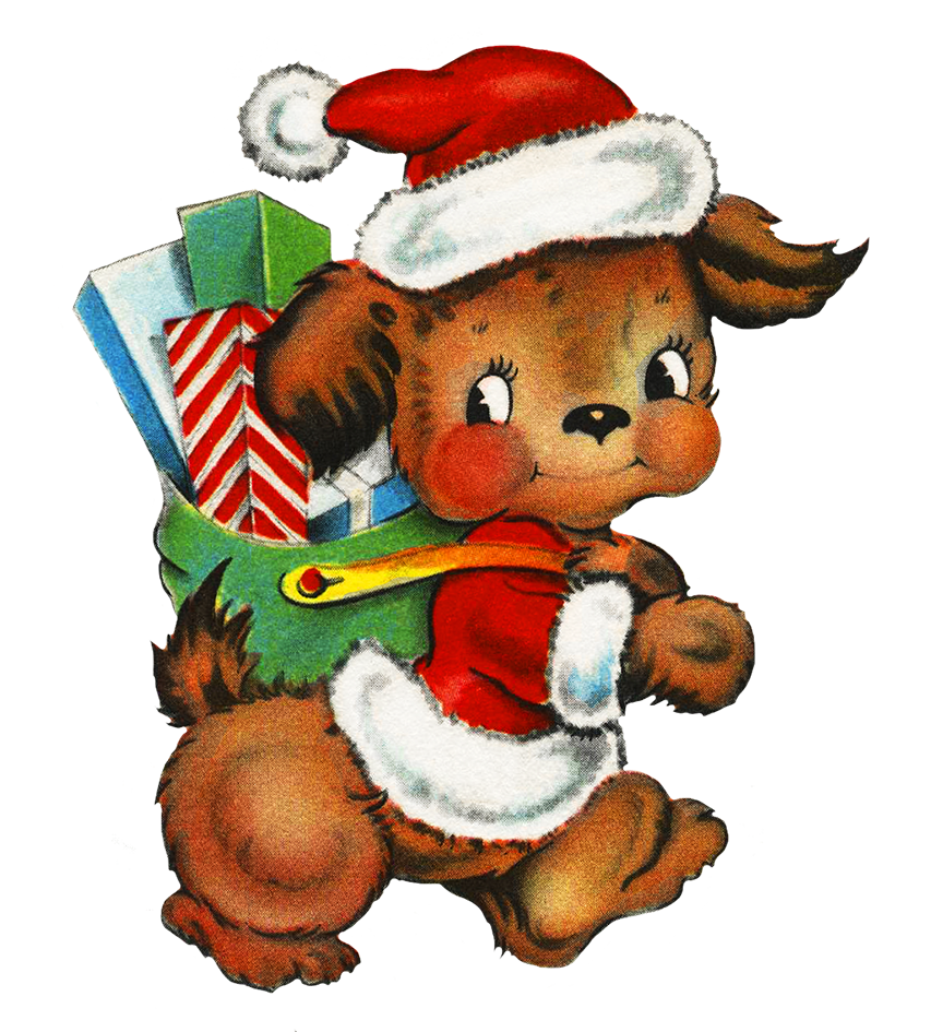 Santa dog clipart clip art freeuse stock Holiday Clipart clip art freeuse stock