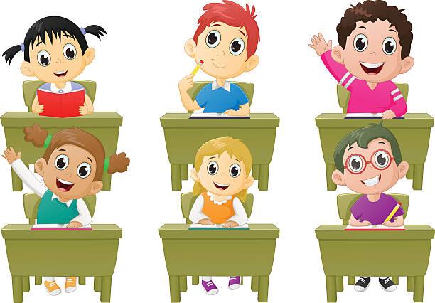 Happy classroom clipart vector stock Children in classroom clipart 4 » Clipart Station vector stock