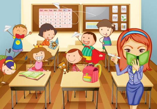 Children classroom clipart vector freeuse library Children in classroom clipart 2 » Clipart Station vector freeuse library