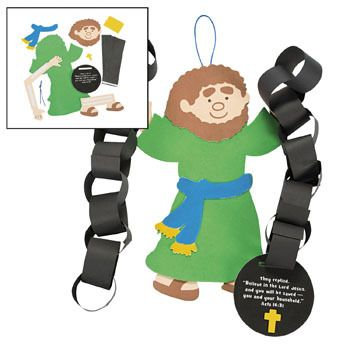 Children clipart paul s joy in prison bible stories clip black and white stock Apostle Paul in prison chains craft for kids   Christian Craft Ideas ... clip black and white stock