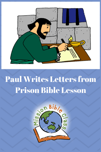Children clipart paul s joy in prison bible stories clip royalty free stock Paul Writes Letters from Prison – Mission Bible Class clip royalty free stock