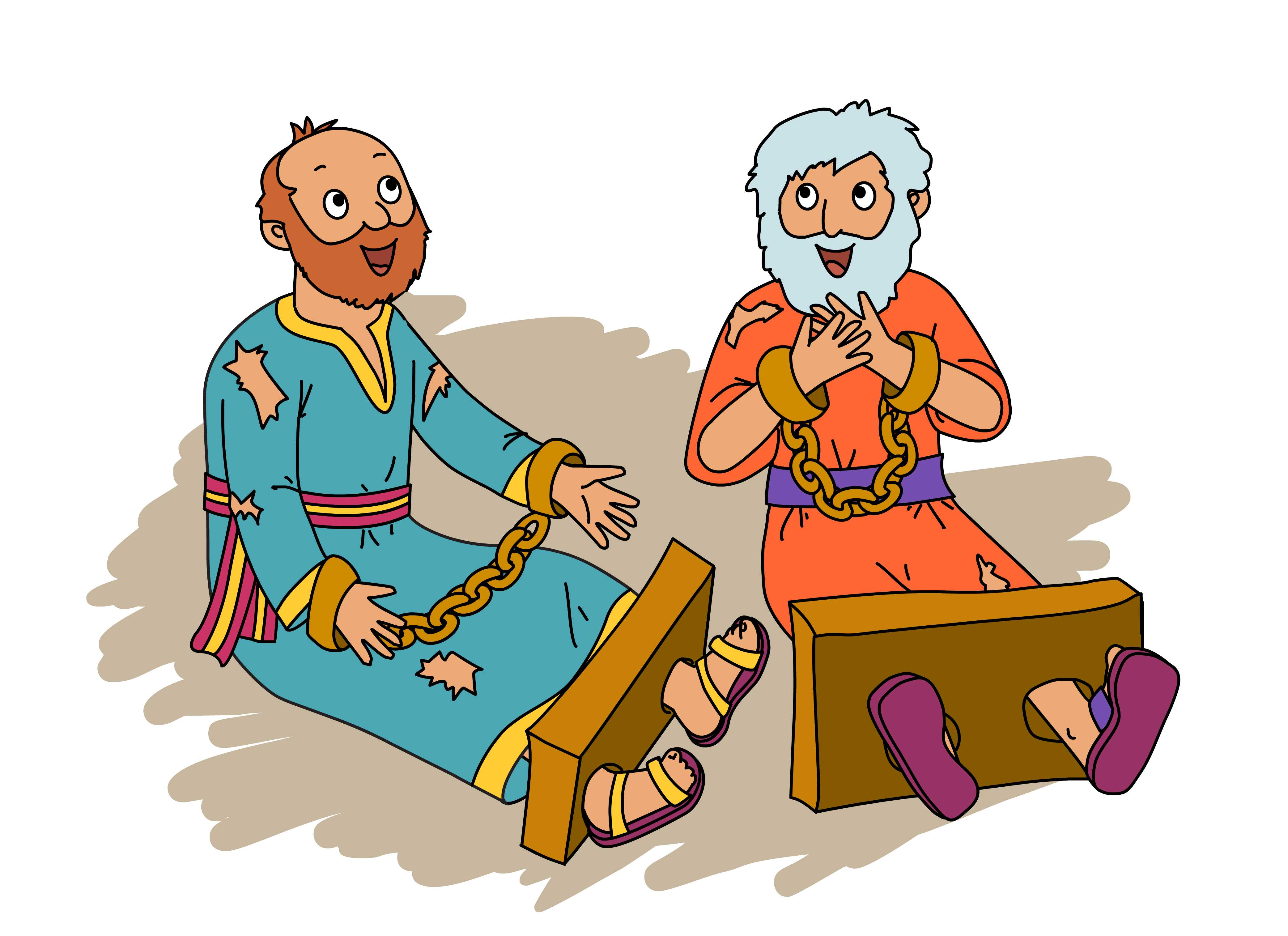 Children clipart paul s joy in prison bible stories image black and white stock Singing Power: Paul, Silas and Camp Calumet image black and white stock