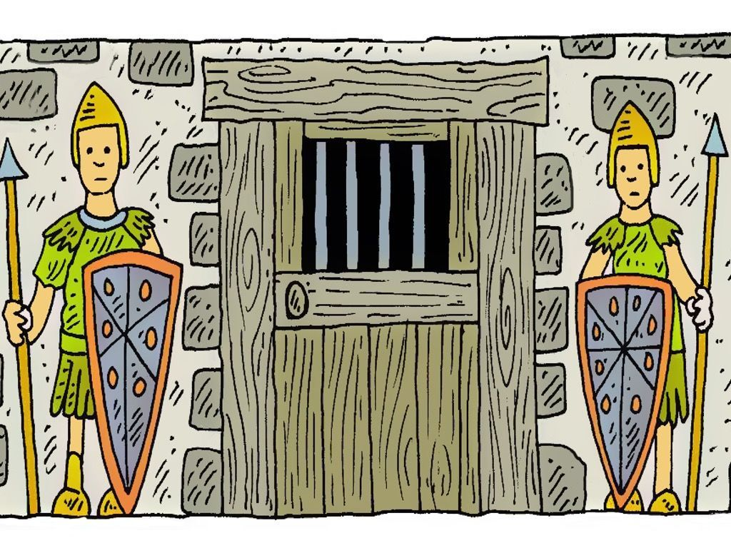 Children clipart paul s joy in prison bible stories image library stock Free visuals: Paul & Silas in Prison   Bible: Paul (Acts & His ... image library stock