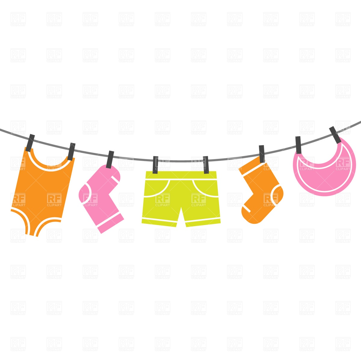 Clothes on clothesline clipart png royalty free Clothing Clip Art Kids | Clipart Panda - Free Clipart Images png royalty free