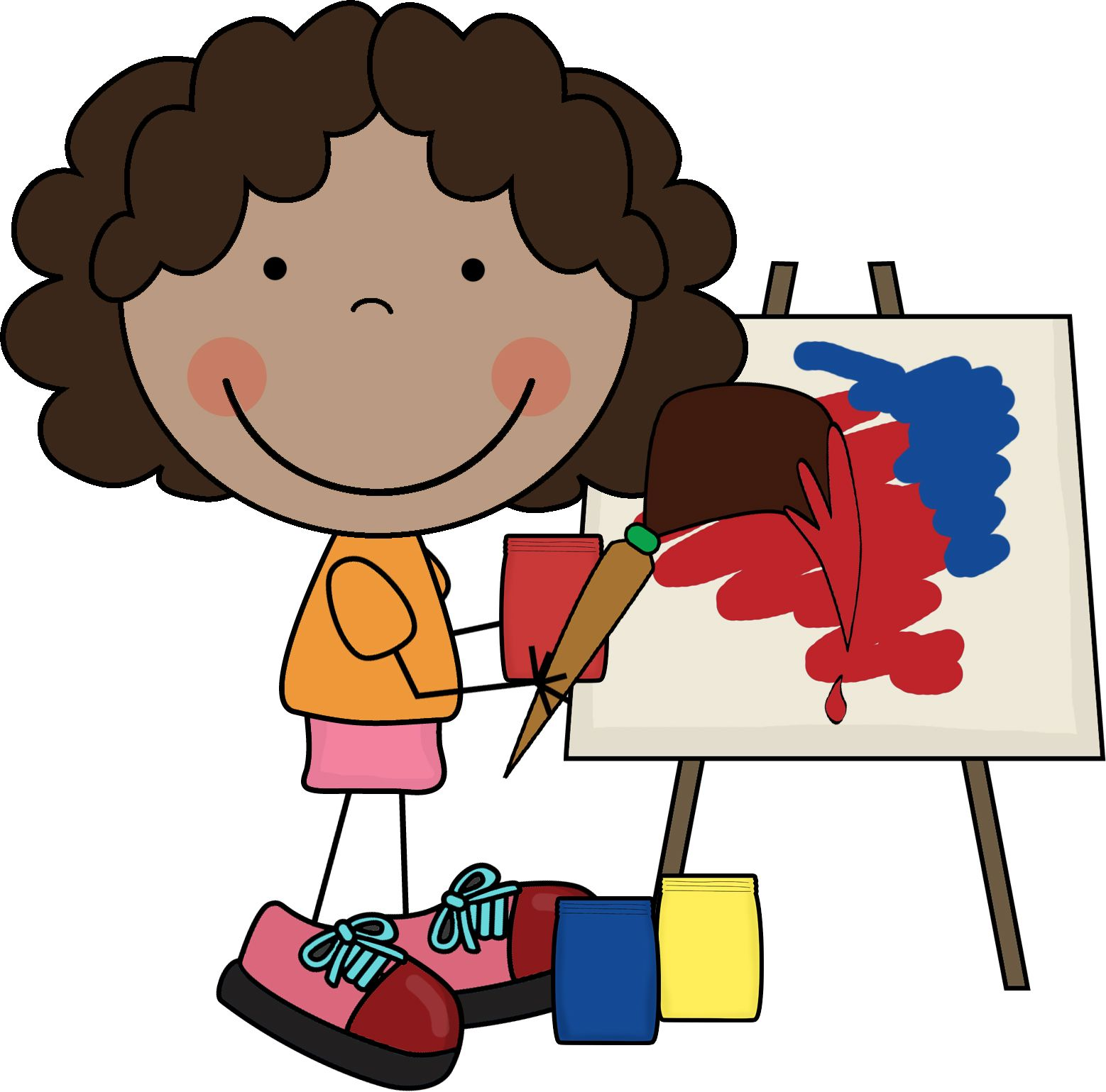 Children creating art clipart clip royalty free library creating doodle   dOodles   Clip art, School art projects, Kids graphics clip royalty free library