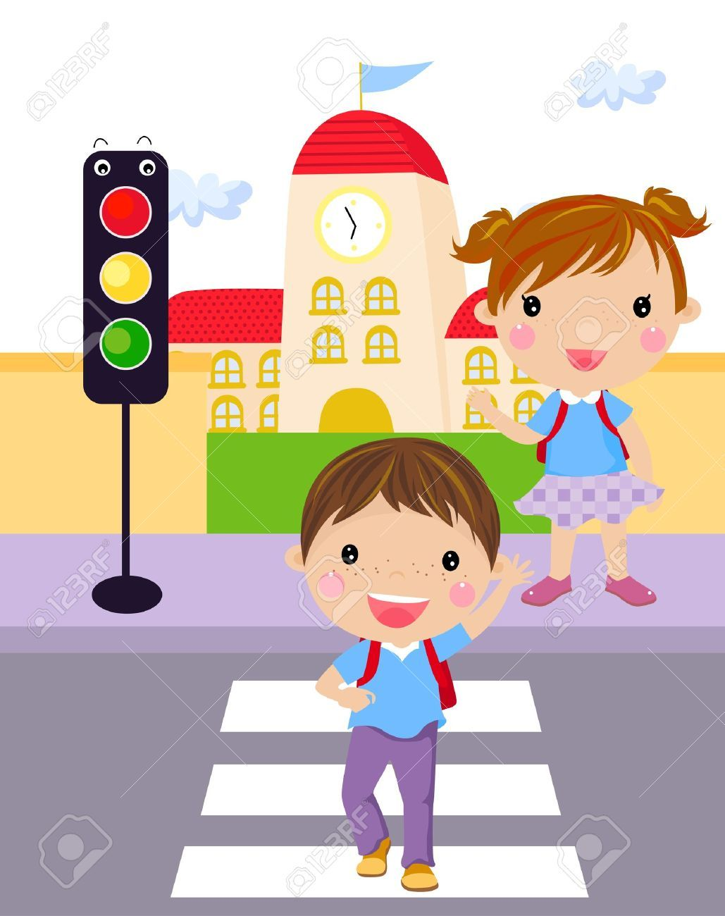 Children crossing the street clipart clipart black and white download Children crossing the street clipart 6 » Clipart Portal clipart black and white download