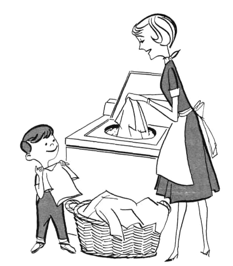 Toddler doing chores clipart black and white graphic black and white download Kids Doing Chores Clipart Black And White graphic black and white download