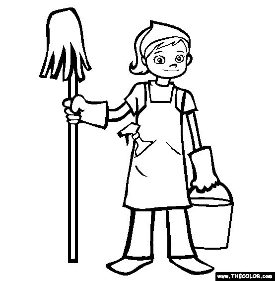 Children doing chores clipart black and white image royalty free Housework Clipart | Free download best Housework Clipart on ... image royalty free