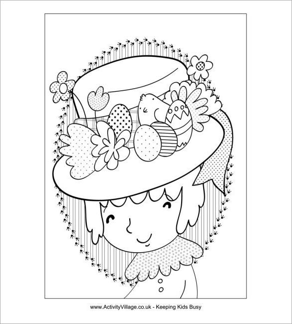 Children easter hat image clipart black and white image freeuse download Easter Bonnet Templates Free – HD Easter Images image freeuse download