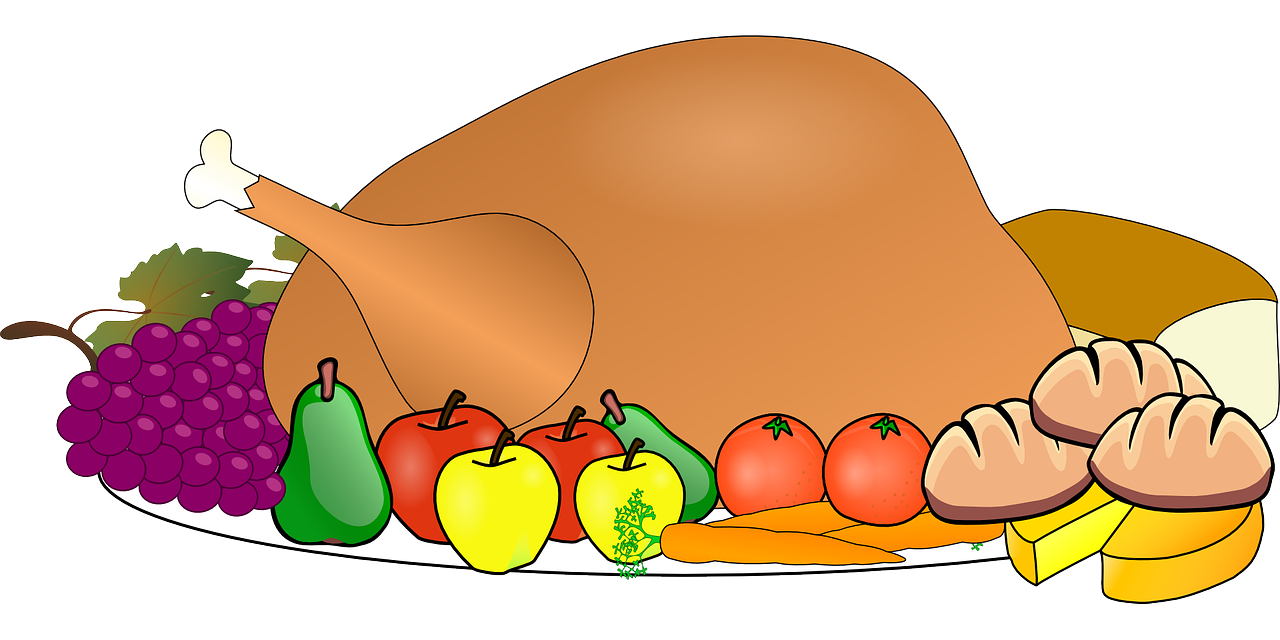 Clipart of turkey dinner vector black and white library Norway churches join to host free Thanksgiving dinner – Maine News vector black and white library